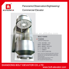 circular glass elevator lift sightseeing elevator price