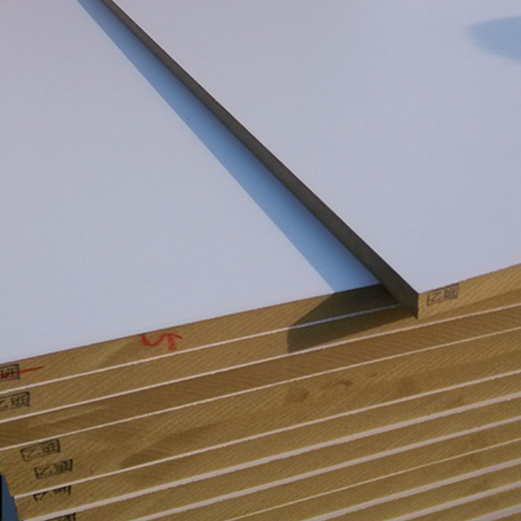 Tablero MDF de papel melamina blanco 4x8 18 mm