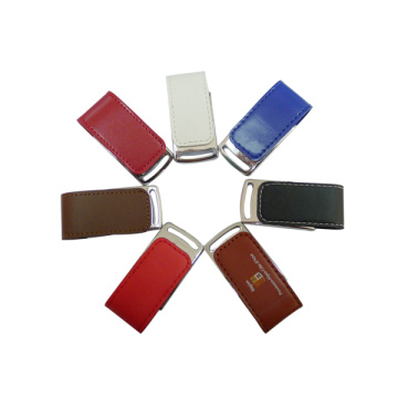 Gift 4gb Pen drive lederen Flash USB-drive