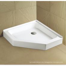 Cacerola de ducha acrílica Upc Cupc con reborde de azulejo