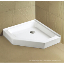 Upc Cupc Acrylic Shower Pan avec bride de carrelage