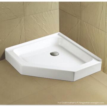 Upc Cupc Acrylic Shower Pan avec bride de carrelage