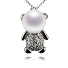 Snh Cute Little Girl Natural Freshwater Pearl Pendant with Silver