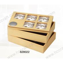 Caja de Joyería y Caja de Madera con Foto para Home Deco