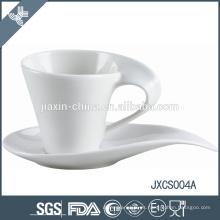 2015 nueva taza y platillo de café de la porcelana 100CC, taza y platillo antiguos del diseño, sistema de la taza de café