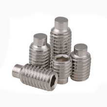 Stainless steel hexagon socket set screws with dog point DIN 915