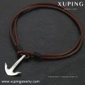 necklace-00265 XP collier en acier inoxydable de conception simple de bijoux en cuir en cuir pour hommes