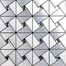 carreaux de mosaïque en métal de 12'' x 12'' en aluminium
