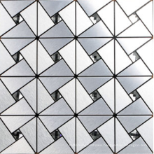 Glass mix aluminum mix stone mosaic tile
