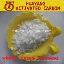 Corindón blanco abrasivo al 99% Al2O3 (WFA) para limpieza con chorro de arena