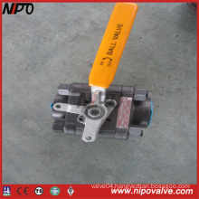ANSI Three Pieces NPT Threaded Ball Valve