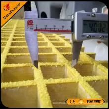 Superficie antideslizante 25mm gruesa frp hoja de rejilla