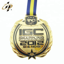 Custom zinc alloy gold own design metal grappling sports medal