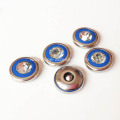 12.5mm Glass Rhinestone Rivets Blue Enamel Inside