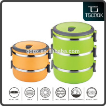 Factory price stainless steel colrful round lunch box and bento box with lock