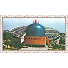 Morden Arco Espacial Truss Marco del Tejado Steel Library Building