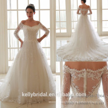 2017 scharfe verkaufende reizvolle rückseitige klassische Art erwachsene Braut Hochzeitskleid