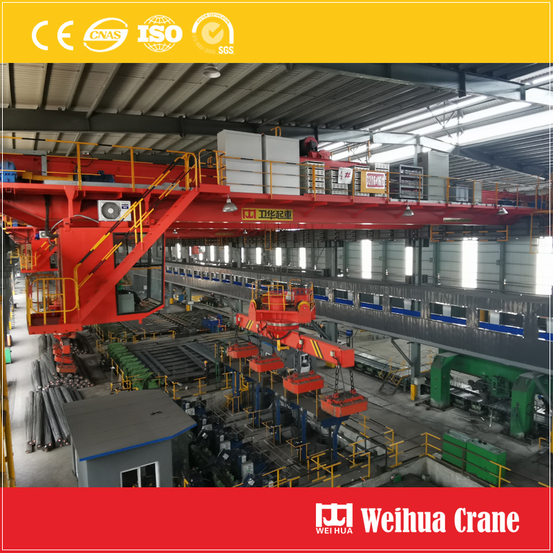 Overhead Crane With Rotary Electromagnetic Sling