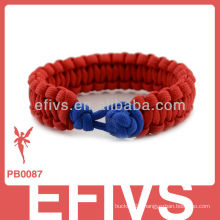 2013 new style diamond knots paracord bracelet side release buckle