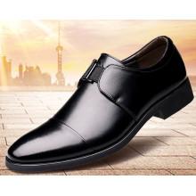 Zapatos de vestir para hombre de punta afilada de cuero genuino informal de corte bajo Formal