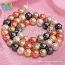 Perlas de perlas y perlas de concha naturales de color mezclado al por mayor