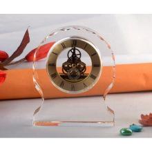 Reloj de cristal del reloj de escritorio de cristal de alta calidad