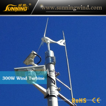 300W Wind Turbine Solar Hybrid CCTV System (MINI 400W)