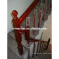 Pasamanos de roble rojo escaleras balaustres de madera de diseño.