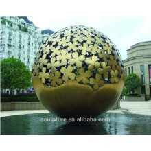 Grandes Artes Modernas Escultura de esfera de acero inoxidable para decoración de jardín
