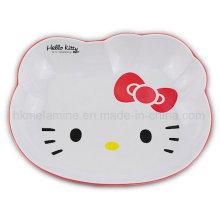 Placa de melamina de dos tonos con Hello Kitty Logo (PT7102)