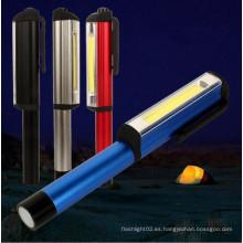 250 lúmenes de la antorcha de trabajo de luz magnética Pocket Clip Camping COB Pen luz