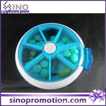 Conception personnalisée 7 jours boîtes de pilules décoratives en plastique de glissière
