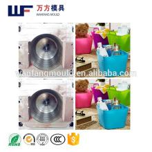 Multi-functional storage basket mould/OEM Custom plastic injection PE soft plastic storage basket mold made in China