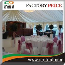 Rahmen pvc Hochzeitszelt 300 Menschen Zelt 20x25m aus strapazierfähigem Aluminiumrahmen und PVC-Stoff für Outdoor-Hochzeitsfeier Veranstaltungen