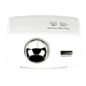 White Large Power Efficient Automatic Hand Dryer