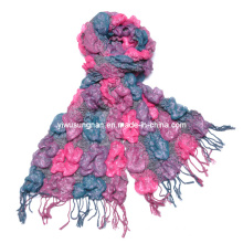 2014 Fashion Lady′s Chunky Ruffle Yarn Bubble Scarves