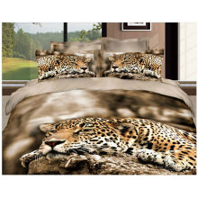 100% Lion Mattress Toppers Cotton Quilt avec Reactive 3D Print Chinois Panda et Leopard Set de couverture de lit