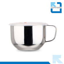 Fine Polishing 304 Stainless Steel Instant Noodle Cup & Bowls with Handle and Lid