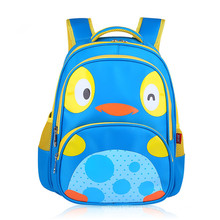 Small Colorful Penguin Logo Kids Backpack School Bag for Teenager