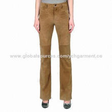 Loose/Comfortable/Genuine Sheep Leather Pants for Women