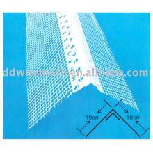 Grade de ângulo de PVC com fibra de vidro, talão de canto