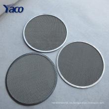 Disco cuadrado redondo del filtro del acero inoxidable de YACHAO 50m m 40m m 30m m para fumar la pipa