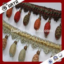 Stock Closeout frange en bois, frange de rideau, frange de tulle à rideau pour décoration