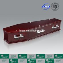 LUXES caixão de mogno papel venda Popular australiano caixões