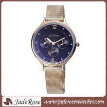 Relógio de moda mulher relógio com banda de malha
