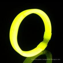 yellow wide glow wristband