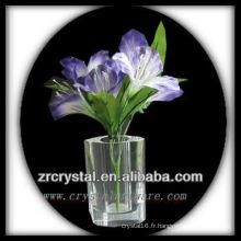 Beau vase en cristal L016