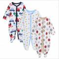 2017 mignon infantile bébé enfants vêtements coton dessin animé bébé barboteuse 3 pcs set bébé nouveau-né hiver porter