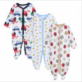 2017 cute infant baby kids clothes cotton cartoon baby romper 3pcs set newborn baby jumpsuit winter wearing