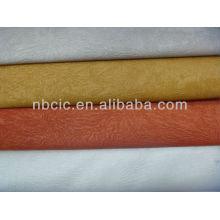 embossed velvet sofa fabric 100%polyester bonded